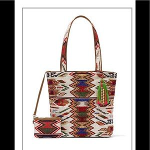 NWT! Eva Mendez Collection Embroidered Tote Bag